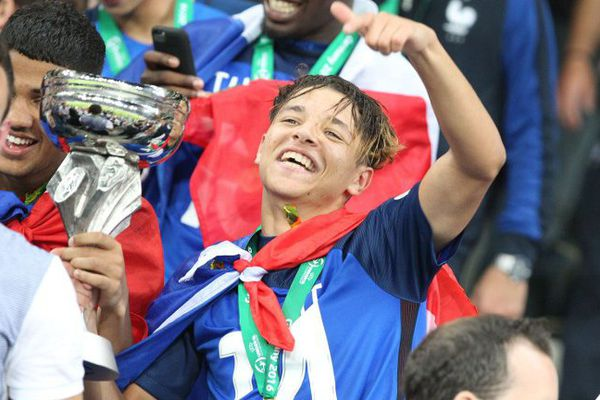 Amine Harit, champion d'Europe 2016 avec les Bleuets