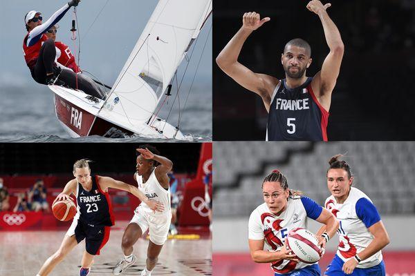 Camille Lecointre en voile, Nicolas Batum et Marine Johannes en basketball et Jade Ulutule en Rugby à 7 sont les quatre médaillés normands des Jeux Olympiques de Tokyo.