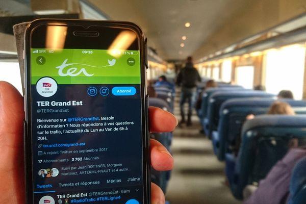 Depuis le 15 janvier, il est possible de s'informer sur Twitter de l'état du trafic des TER en Alsace