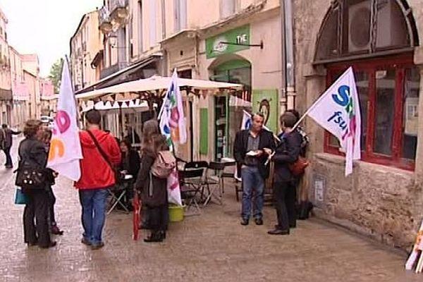 Montpellier - manifestation des professeurs documentalistes devant le rectorat - 11 mai 2016.