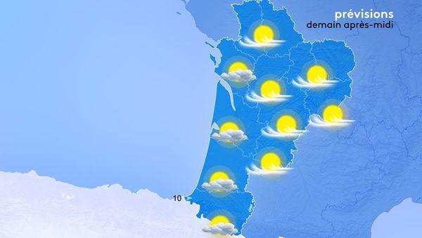 Soleil généreux et températures estivales sont au programme demain.