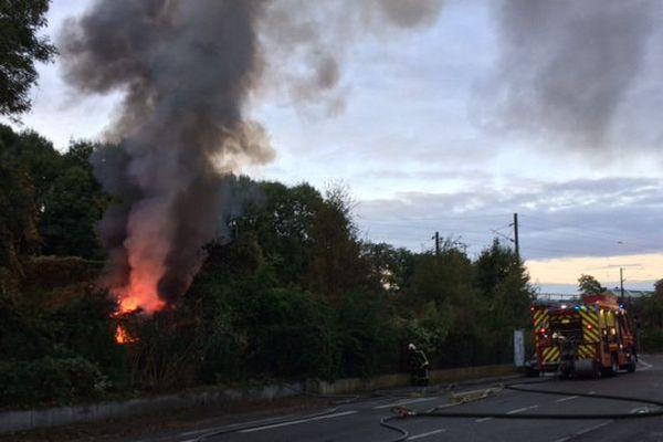 Incendie rue du Ban de la Roche.
