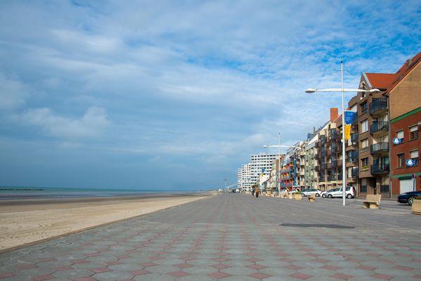 La digue de Malo à Dunkerque. C'est là qu'a eu lieu l'agression de Kevin Desmidt début février 2020