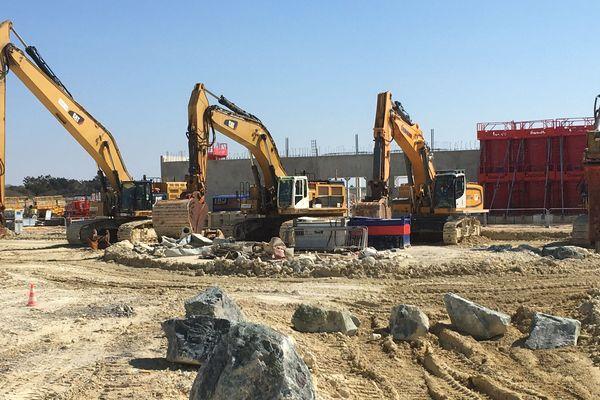 Les chantiers du BTP sont à l'arrêt.