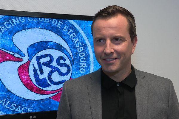 Julien Stéphan, entraîneur du Racing Club de Strasbourg.