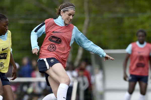 Charlotte Bibault , ici à l'entraînement à Clairefontaine en 2019