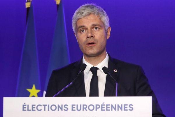 Laurent Wauquiez, président du parti Les Républicains, après les résultats des élections européennes.