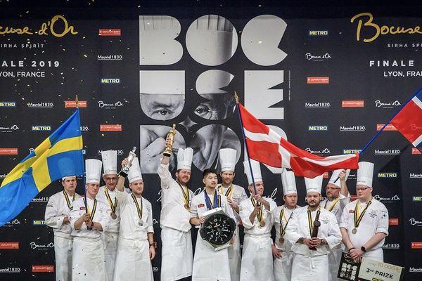 Sirha 2019 : le podium des Bocuse d'or (30/1/19)
