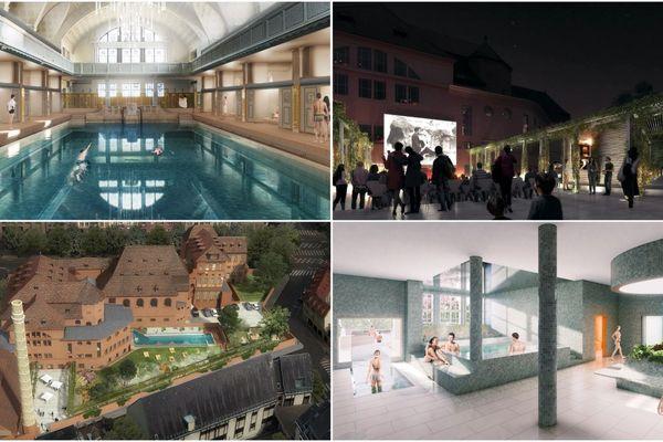 Des vues intérieures et extérieures du projet de restauration des bains municipaux de Strasbourg