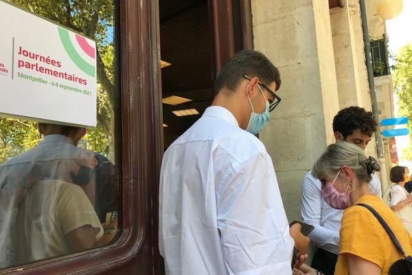 L'ouverture des journées parlementaires du parti socialiste a eu lieu au centre Rabelais à Montpellier. 6/09/2021