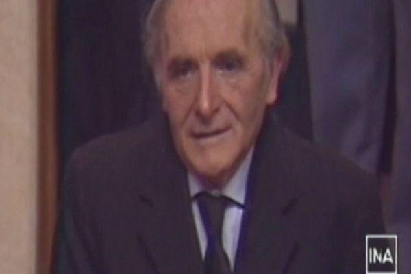 Klaus Barbie lors de son procès à Lyon le 11 mai 1987