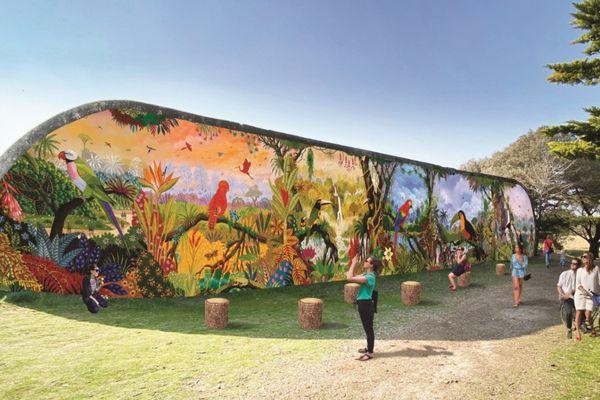 Simulation de la fresque qui sera visible sur le mur de la casemate de Saint-Brévin-les-Pins.