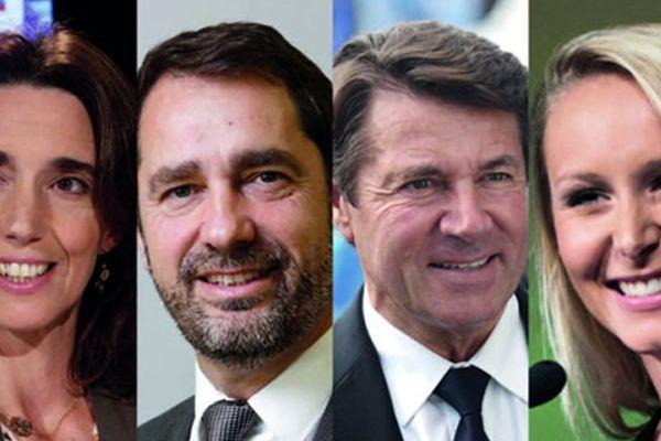 Sophie Camard, Christophe Castaner, Christian Estrosi et Marion Maréchal-Le Pen.