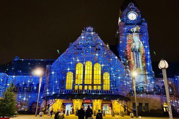 Photographie de la gare de Metz, jeudi 3 décembre 2020 à 18h27.