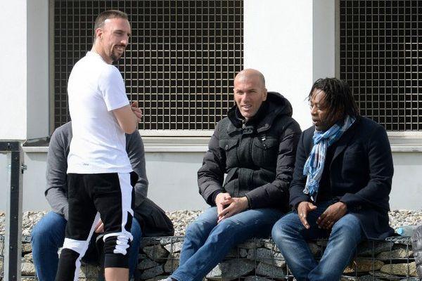 Franck Ribéry, Zinedine Zidane, Bernard Diomède