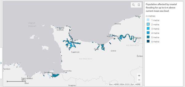 Les zones qui pourraient être touchées par des inondations