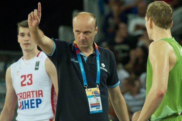 Jurij Zdovc, entraineur équipe nationale de Slovénie. Zagreb. 5.05.2015