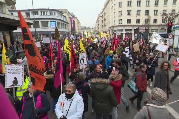 Encore du monde dans les rues de Caen ce vendredi 24 janvier 2020