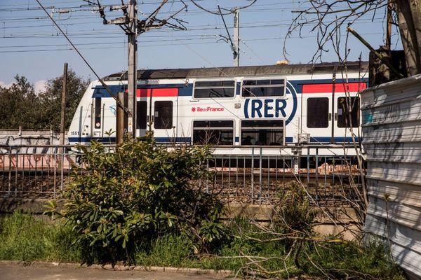 Un train du RER A en avril 2021 (illustration).