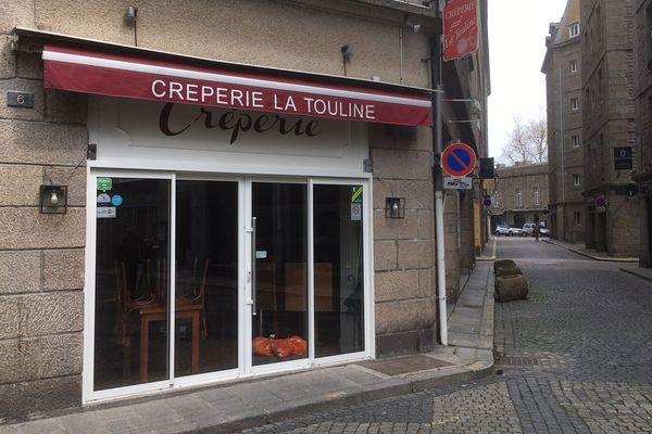 """La crêperie """"La Touline"""" fermée comme toutes les crêperies et restaurants de Saint-Malo"""