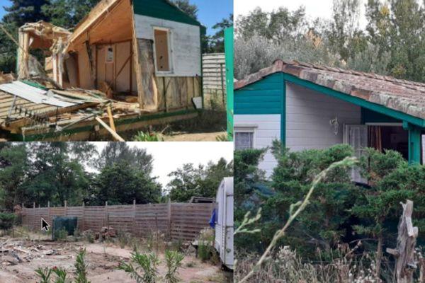 Vias - La construction illégale qui vient d'être détruite à Vias - 01.07.21