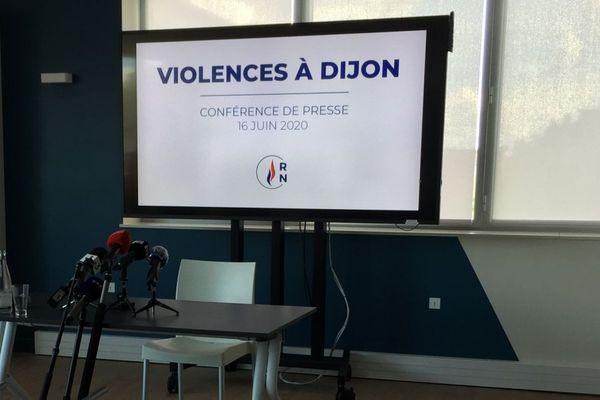 Marine Le Pen est venue à Dijon mardi 16 juin 2020 pour évoquer les violences urbaines des quatre derniers jours.