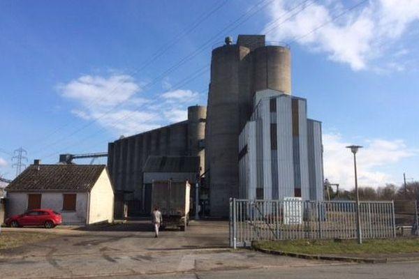 Un silo de la coopérative Scael basé à Courville-sur-Eure (Eure-et-Loir)