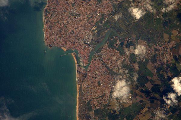 Photo du Tweet de Thomas Pesquet vue de l'espace de Saint-Gilles-Croix-de-Vie