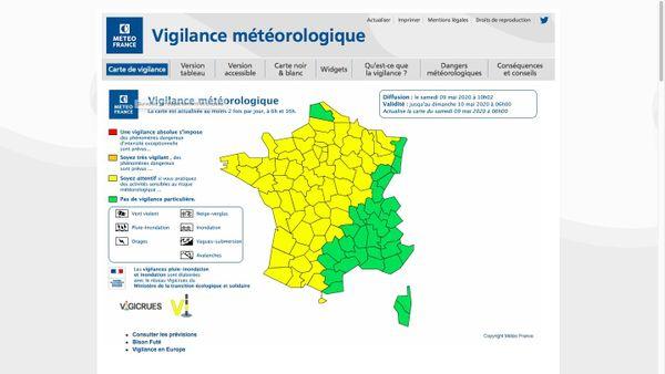Météo France a placé tout l(ouest de la France en vigilance jaune aux orages ce samedi 9 mai 20.