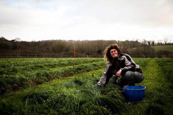 Anne et son compagnon, sont agriculteurs. Ils ont décidé de s'installer en bio dans le Pays Bigouden.
