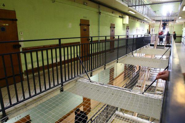 L'intérieur de la prison de Reims.