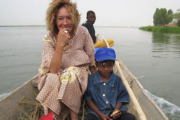 Sophie Pétronin, lors d'une mission sur le continent africain. (Photo non datée et lieu non précisé.)