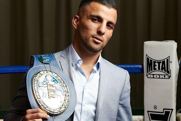 Le boxeur Samir Ziani, champion d'Europe des super-plumes