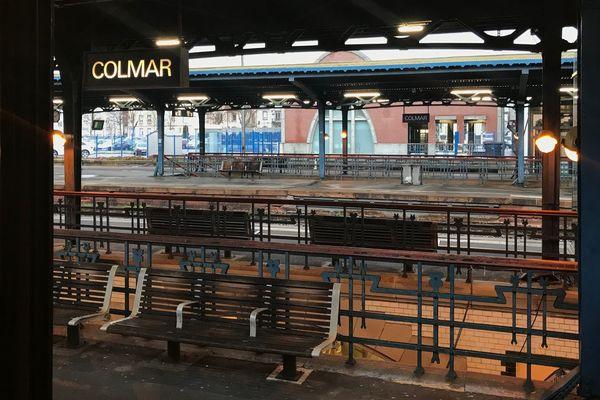 Les quais de la gare de Colmar, le 27 décembre 2019.