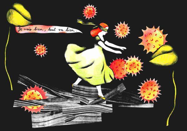 Première image fabriquée par Sophie Lécuyer dans son journal de confinement.