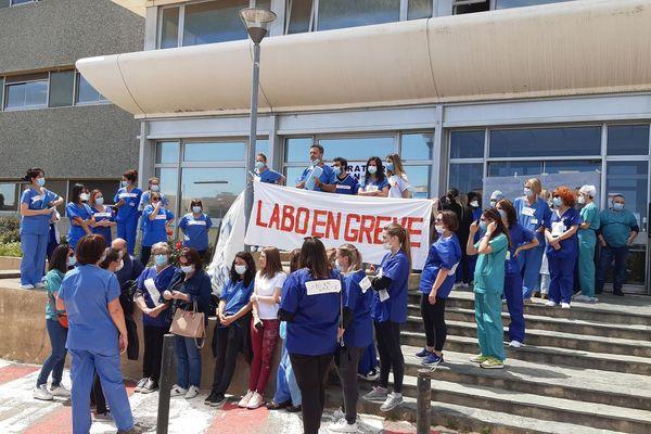 L'appel à la grève des techniciens de laboratoire était nationale ce mardi 18 mai.