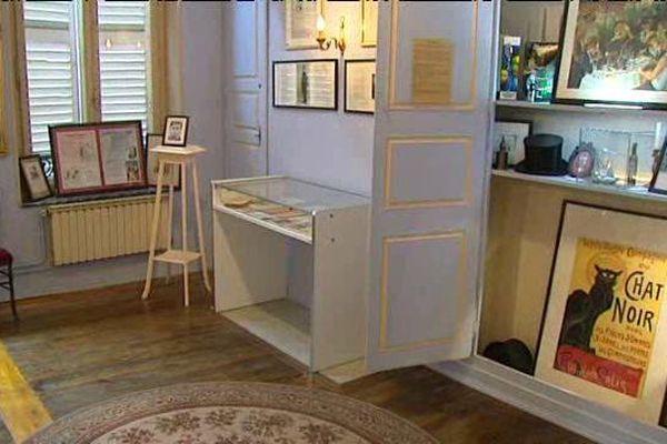 Chambre dans laquelle est né Paul Verlaine dans la maison familiale à Metz (Moselle).