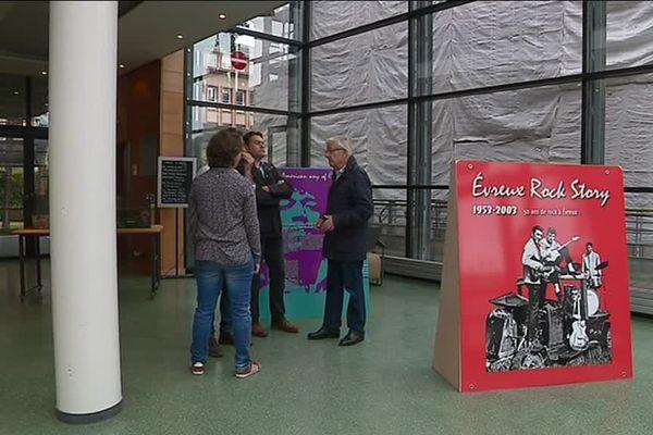 L'affiche de l'expo Evreux Rock Story