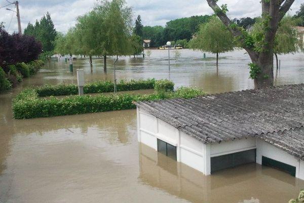 Peyrehorade inondée le 19 juin 2013