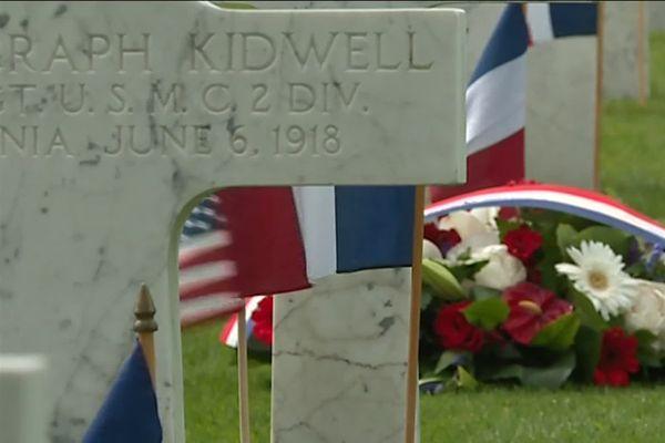 En juin 1918, plus de 1800 soldats américains sont morts lors de la bataille du Bois Belleau dans l'Aisne. Ils sont inhumés dans le cimetière américain situé sur les lieux des combats.