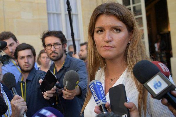 La secrétaire d'Etat à l'Egalité entre les femmes et les hommes Marlène Schiappa à Matignon le 3 septembre 2019.