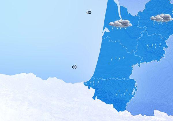 De la pluie pour tout le monde et du vent. Les rafales pourront atteindre 60 km/h près du littoral.