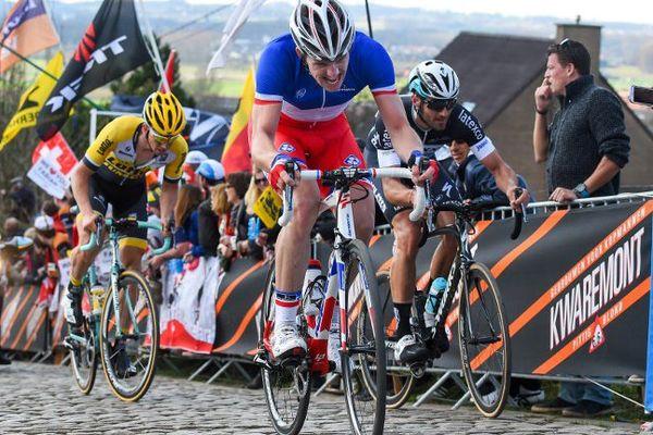 Arnaud Démare sur les pavés du Tour des Flandres dimanche dernier.