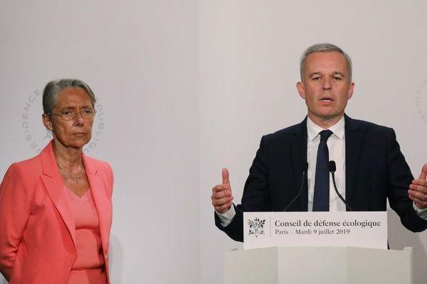 Elisabeth Borne et François de Rugy à Paris, le 9 juillet 2019