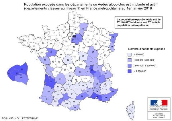 carte de la population exposée au 1er janvier 2019 ( données 2020 indisponibles )
