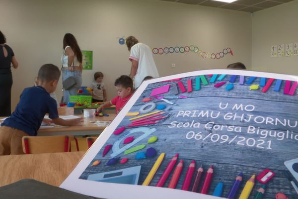 Deux classes de maternelle 100 % langue corse. C'est le pari de Scola Corse à Bastia et Biguglia en cette rentrée scolaire 2021.