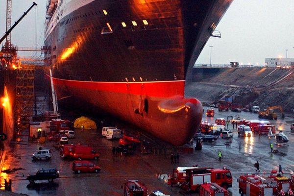 Le drame de la passerelle du Queen Mary 2, il y a 15 ans à Saint-Nazaire, le 15 novembre 2003