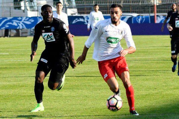 L'EAG contre Fréjus Saint-Raphaël lors du match de quart de finale de la Coupe de France 2017