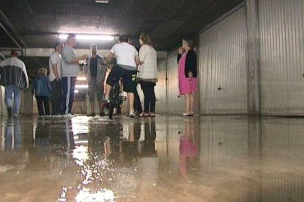 Sous-sol inondé dans certains immeubles du Port-du-Rhin