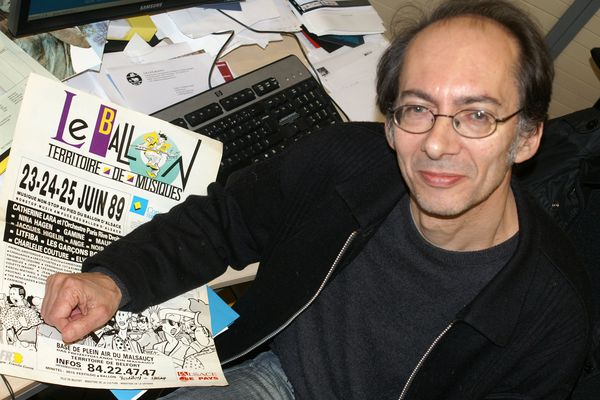 Michel Buzon était sur la scène de la première édition des Eurockéennes en 1989.